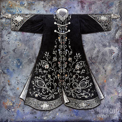 the Sultan's Black Kaftan Original by Carol Bostan