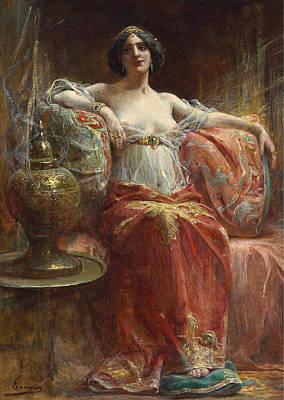Henri Adrien Tanoux Painting - The Sultan's Favourite by Henri Adrien Tanoux
