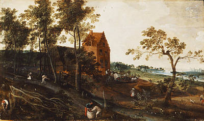 Weeding Painting - The Summer Ca. 1577 by Jacob Grimmer