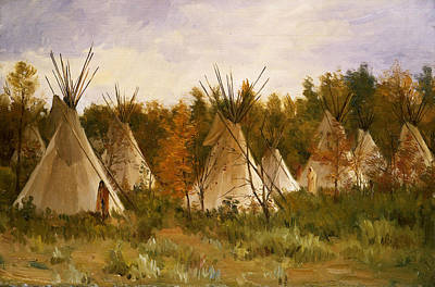 Painting - The Summer Camp by Joseph Henry Sharp