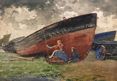 Winslow Homer Drawing - The Summer Cloud by Winslow Homer