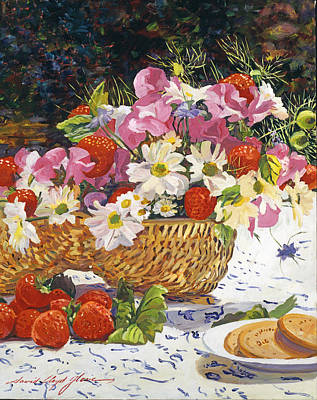 The Summer Picnic Art Print by David Lloyd Glover