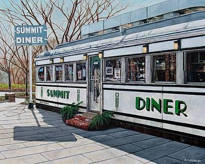 Painting - The Summit Diner by Daniel Carvalho