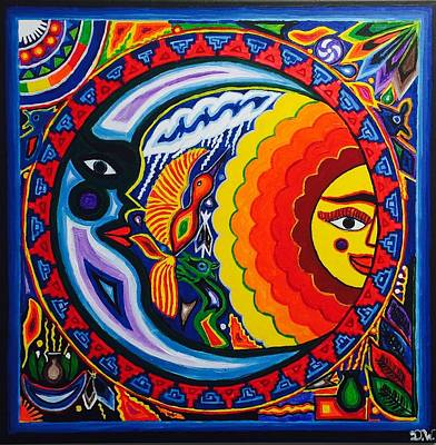 The Sun And The Moon Original by Deedee Williams