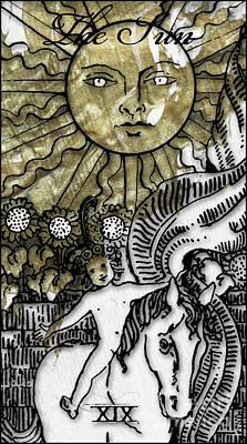 Arcana Wall Art - Painting - The Sun Arcannah by Mindy Sommers