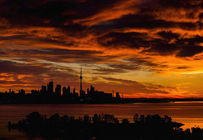 The Sun Begins To Rise Over The Skyline In Toronto Original by Don Kuing