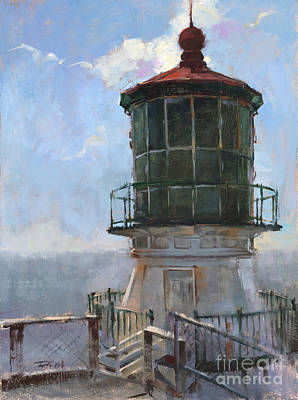 Wall Art - Painting - The Sun Breaks On Point Reyes by Patrick Saunders