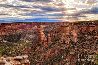 Photograph - The Sun Coming Up Over The Colorado National Monument by Ronda Kimbrow