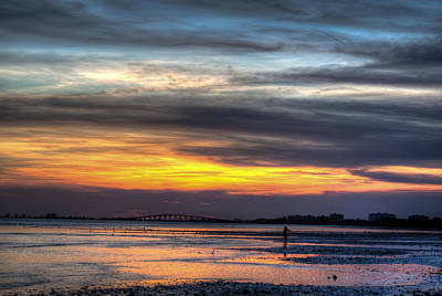 Gulf Photograph - The Sun Has Gone Down by J Darrell Hutto