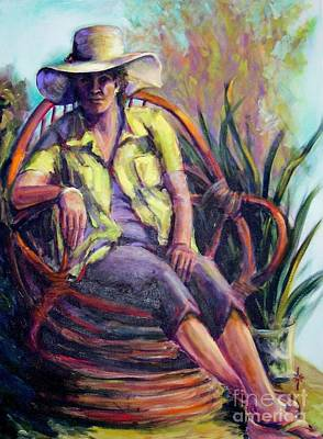 Painting - The Sun Hat by Jodie Marie Anne Richardson Traugott          aka jm-ART