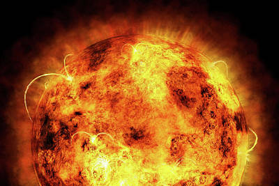 Fire Digital Art - The Sun by Michael Tompsett