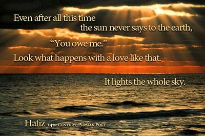 Painting - The Sun Never Says by Hafiz