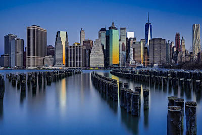 Photograph - The Sun Rises At The New York City Skyline by Susan Candelario