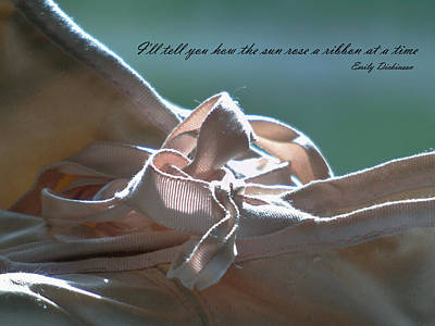 Ballet Dancers On The Stage Photograph - The Sun Rose A Ribbon by Barbara St Jean