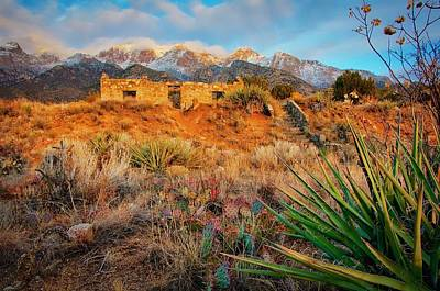 Photograph - The Sun Sets On Jaun Tabo Cabin, Albuquerque, New Mexico by Flying Z Photography by Zayne Diamond