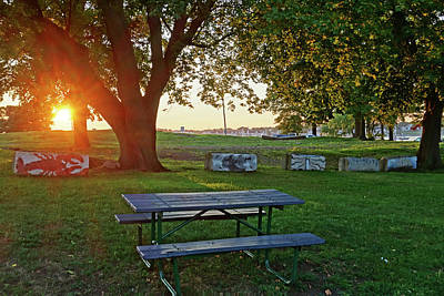 Photograph - The Sun Sets On The Salem Willows Salem Ma by Toby McGuire