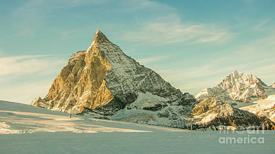 The Sun Sets Over The Matterhorn Art Print
