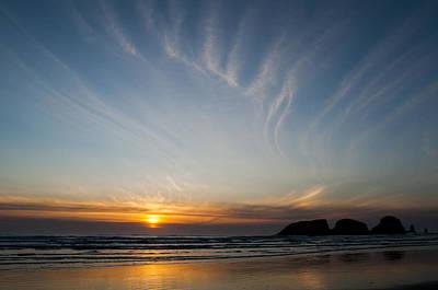 Photograph - The Sun Sets  by Robert Potts
