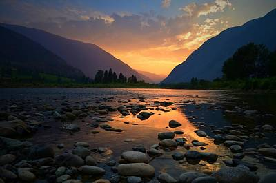 Photograph - The Sun Sets Softly On The Similkameen by Tara Turner