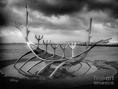 Photograph - The Viking Ship Sculpture Sun Voyager  by Rene Triay Photography