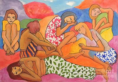 Painting - The Sunbathers by Caroline Street