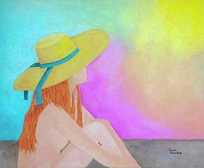 The Sunbathing Art Print