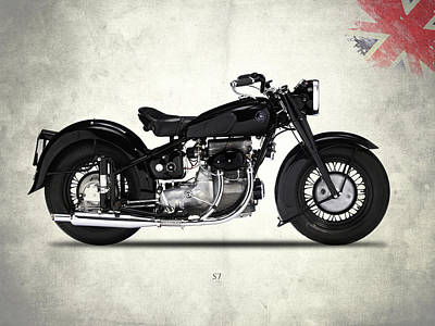 Motorcycle Photograph - The Sunbeam S7 by Mark Rogan