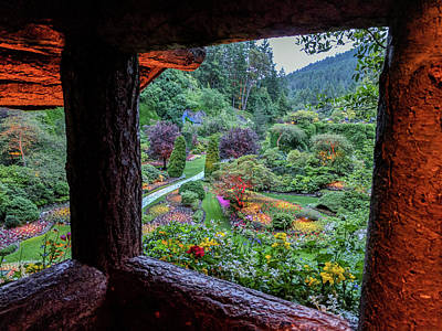 Photograph - The Sunken Garden From Lookout At Dusk by Michael Bessler