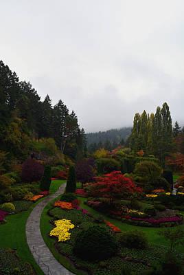 Tourist Attraction Digital Art - The Sunken Garden by Richard Andrews