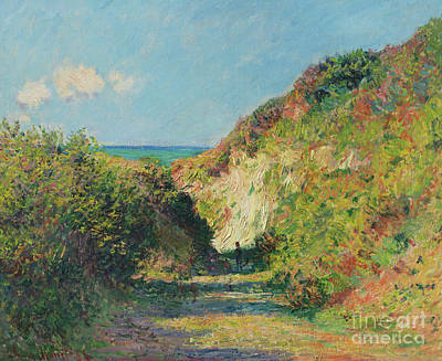 Painting - The Sunken Path, 1882 by Claude Monet