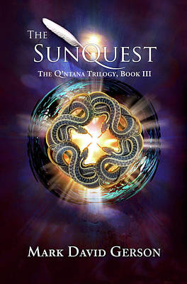 Digital Art - The Sunquest Book Cover by Mark David Gerson