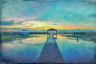 Photograph - The Sunrise Blues After The Rain  by Debra and Dave Vanderlaan