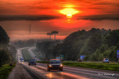 Speeding Chevrolet Photograph - The Sunrise Commute Georgia Interstate 20 by Reid Callaway