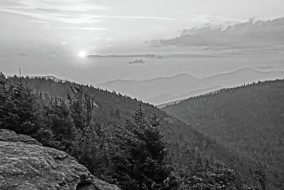 Photograph - The Sunrise From Phelps Mountain Summit In The Adirondacks Black And White by Toby McGuire