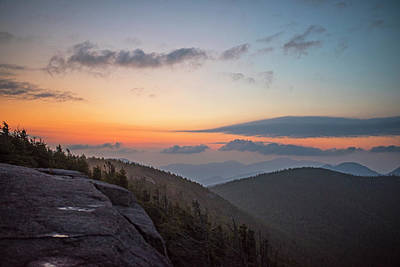 Photograph - The Sunrise From Phelps Mountain Summit In The Adirondacks Dawn Light by Toby McGuire