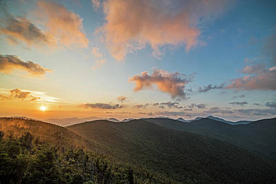 Photograph - The Sunrise From Phelps Mountain Summit In The Adirondacks Red Clouds by Toby McGuire