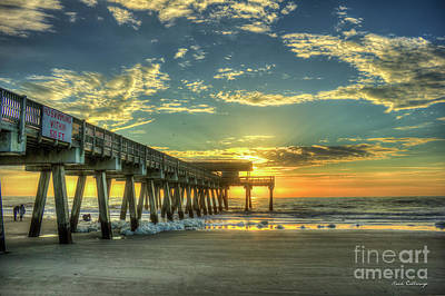 Photograph - The Sunrise Shoot Tybee Island Pier Sunrise Art by Reid Callaway