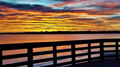 Sunset Photograph - The Sun Creates by Ric Schafer