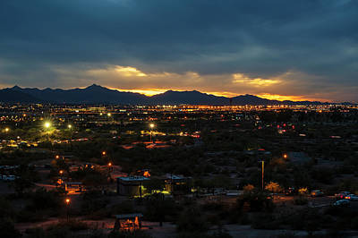 Photograph - The Sunset From Popago Park Phoenix Arizona Az Golden by Toby McGuire