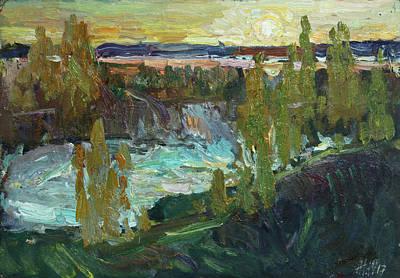 Painting - The Sunset In Nekrasovskoe by Juliya Zhukova