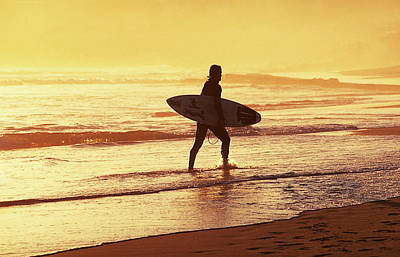 Photograph - The Sunset Surfer by Michael Mogensen
