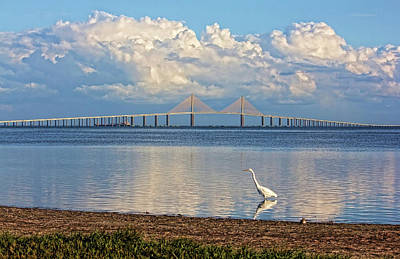 Photograph - The Sunshine Skyway Bridge by HH Photography of Florida