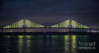 Photograph - The Sunshine Skyway Bridge Tampa St Petersburg by Rene Triay Photography