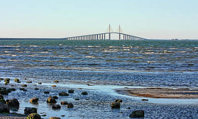 Photograph - The Sunshine Skyway by HH Photography of Florida