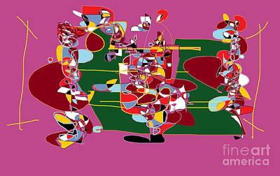 Digital Art - The Super Bowl by Nancy Kane Chapman