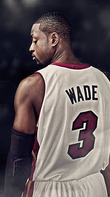 Dwyane Wade Digital Art - The Superstar by Jeric Barnutz