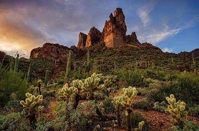 Photograph - The Superstition Three Sisters  by Saija Lehtonen