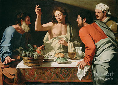 Painting - The Supper At Emmaus by Celestial Images