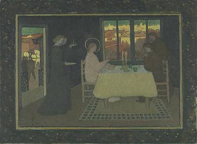 1943 Painting - The Supper At Emmaus  by Celestial Images
