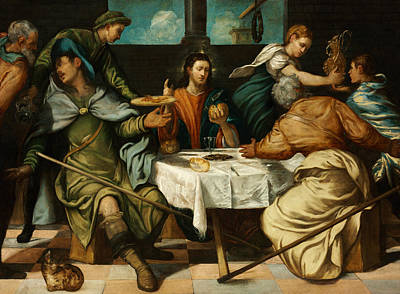 Painting - The Supper At Emmaus by Tintoretto